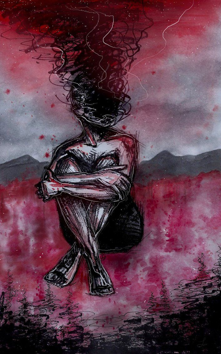 me.: ink, watercolor