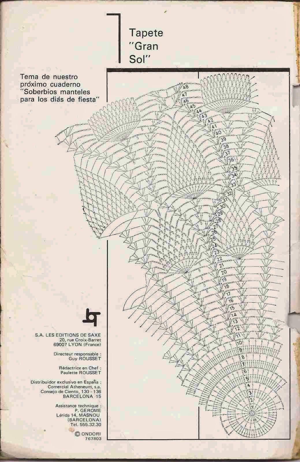 Patrón de tapete | Crochet 10 | Pinterest | Patrones de tapetito ...