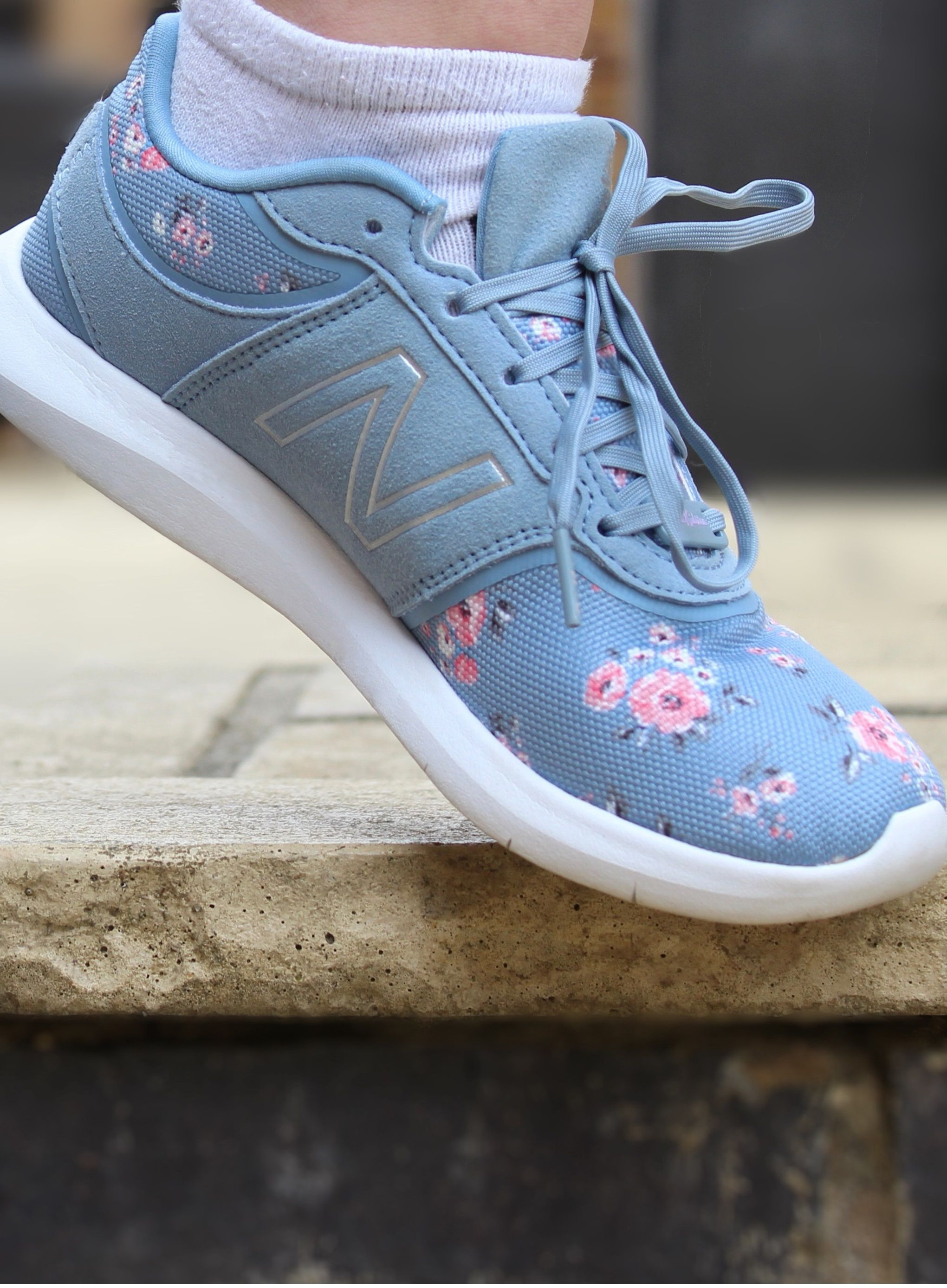sale retailer c3dc7 af895 We ve taken a New Balance classic 415 style and blended it with our pretty  Grove Bunch print in soft grey blue. The trainers are finished with CK and  New ...