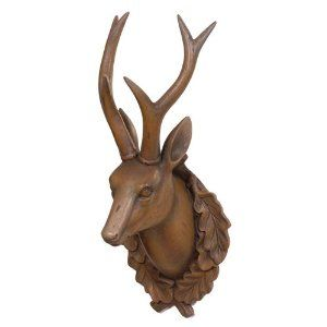 Wooden Deer Head on Wall Mount Now what to do with this?Look out for further developements!