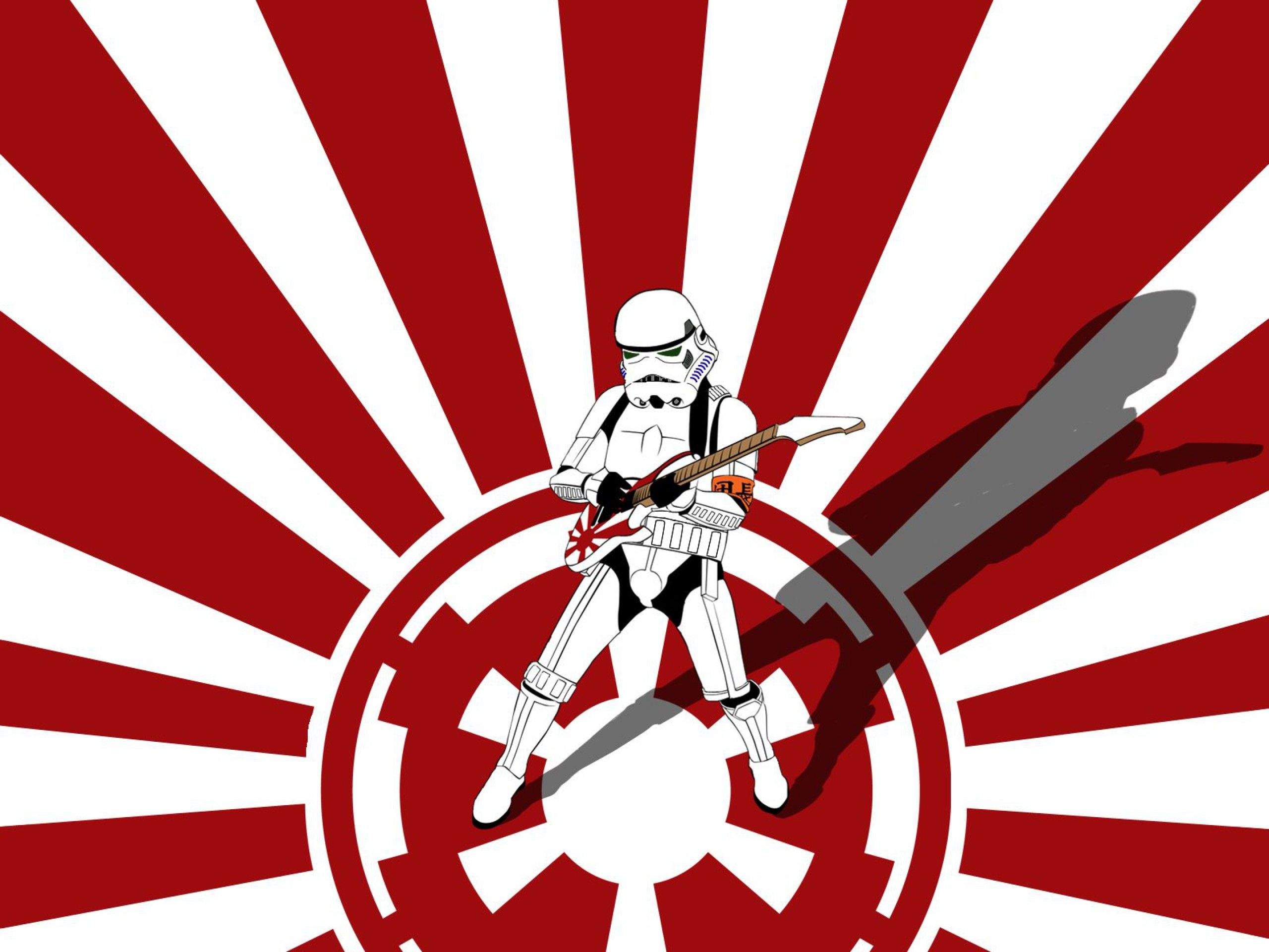 Guitar Galactic Empire Stormtrooper Japan Star Wars Wallpaper Star Wars Art Art