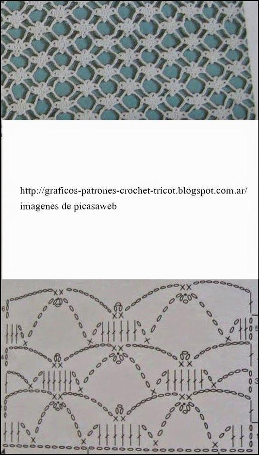 PATRONES - CROCHET - GANCHILLO - GRAFICOS: | Tejido crochet ...