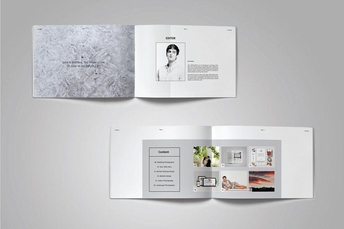 Landscape Portfolio Template Vol 7 Portfolio Templates Indesign Portfolio Template Portfolio