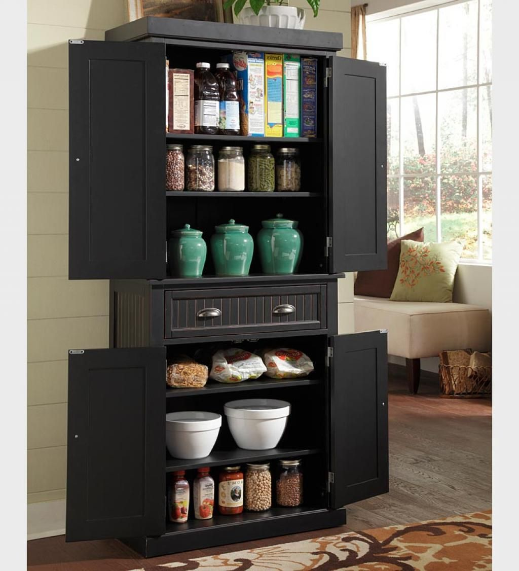 Superb Licious Nantucket Kitchen Storage Pantry Cabinet Black Color Kitchen  Cabinet Tips To Setup Kitchen Pantry Cabinet
