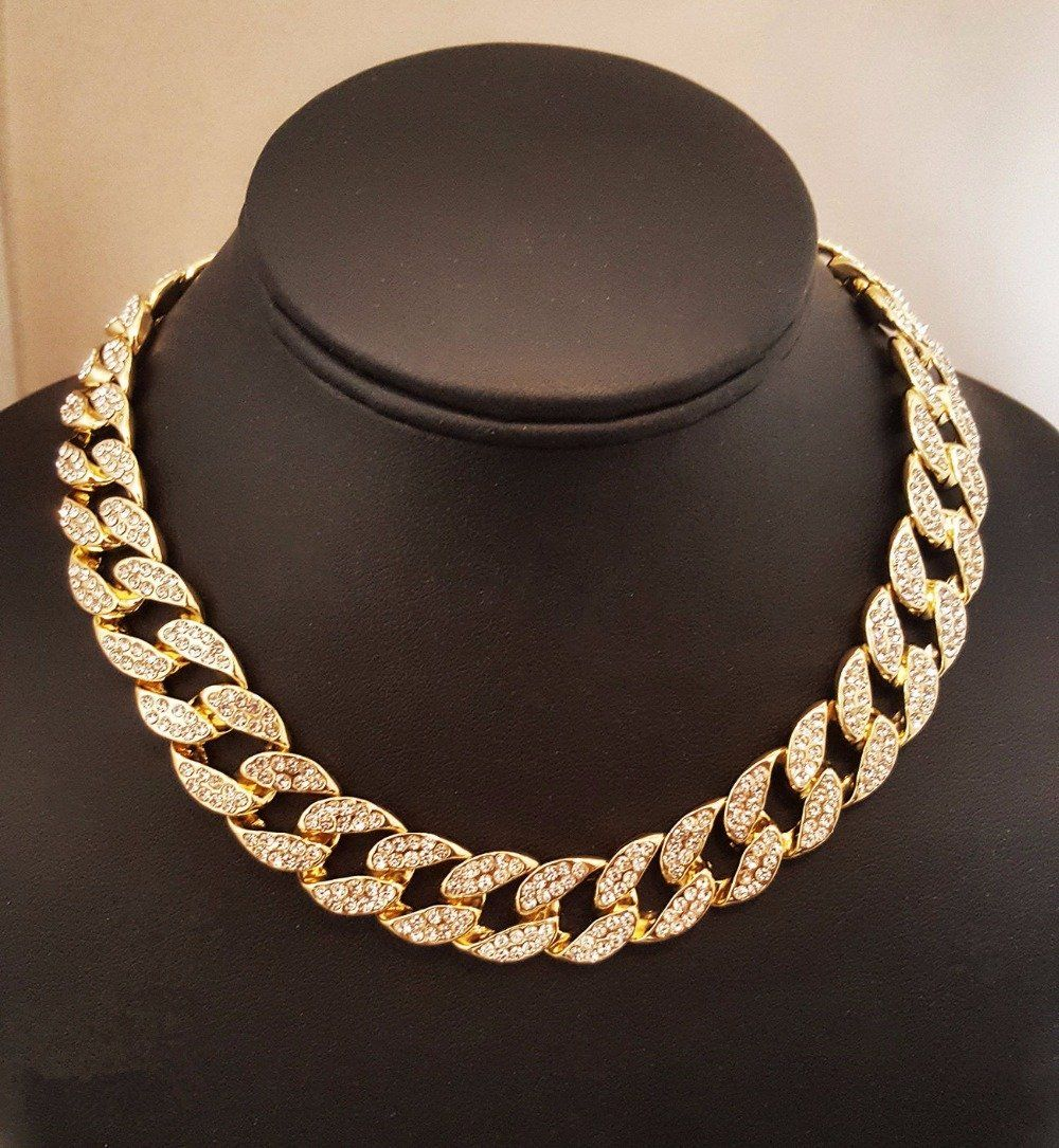 Men/'s 12mm Gold Tight Miami Cuban Chain Bracelet Set Iced Out CZ Box Lock 30/""