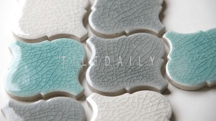 PM0075 - Crackle Lantern Porcelain Mosaic  For wall feature or