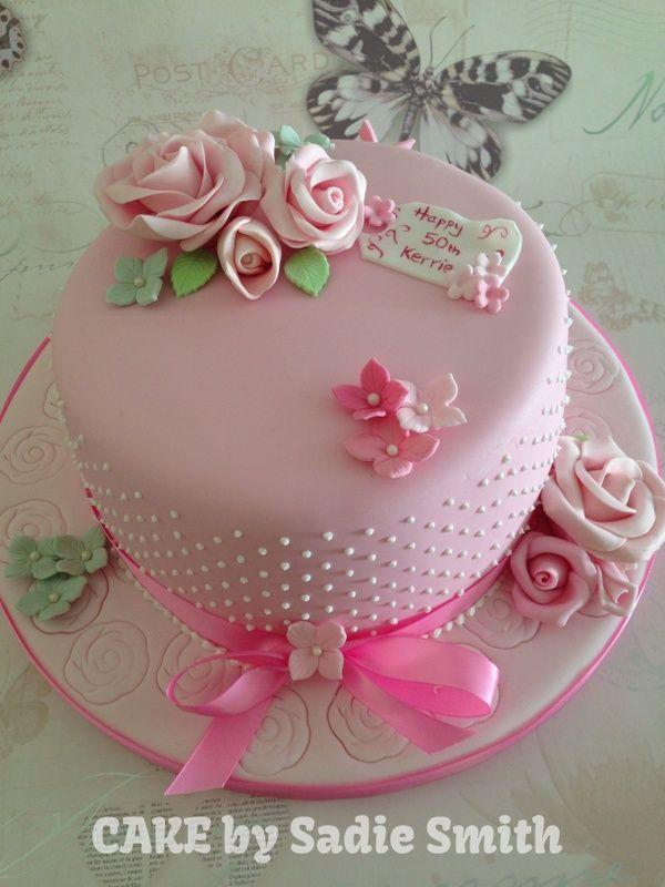 Vintage Rose Cake httpwwwcakebysadiesmithcoukcelebration