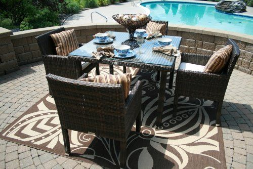 The Via Collection 4-Person All Weather Wicker Patio