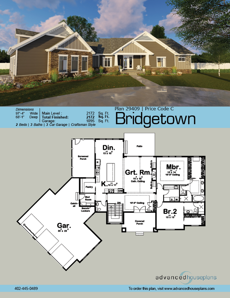 29409 Bridgetown Classic Craftsman styling and an angled footprint contribute to this 1-story house & Bridgetown | Bridgetown Story house and Craftsman style pezcame.com