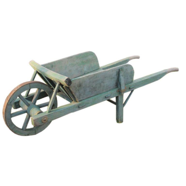 Antique Wheelbarrow Holzskulptur Holz Krippenzubehor