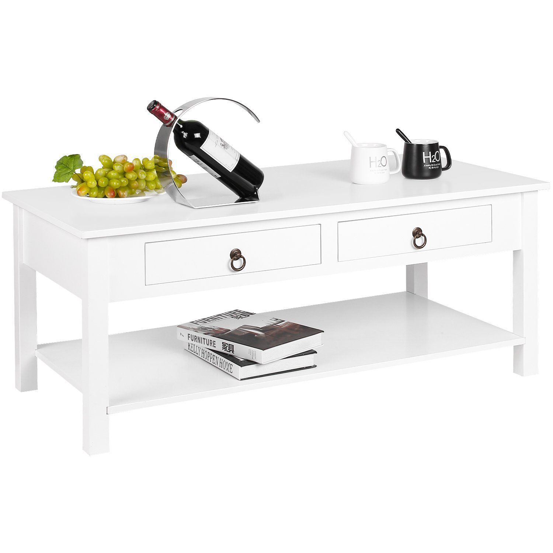 Best Homfa White Coffee Table Modern Side Table Living Room 640 x 480