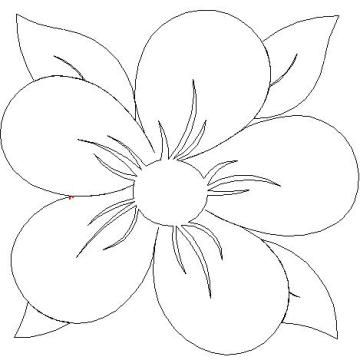 Coloring Pages For Quilt Blocks : Fantasy flowers quilt pattern fantasy flower block l01028