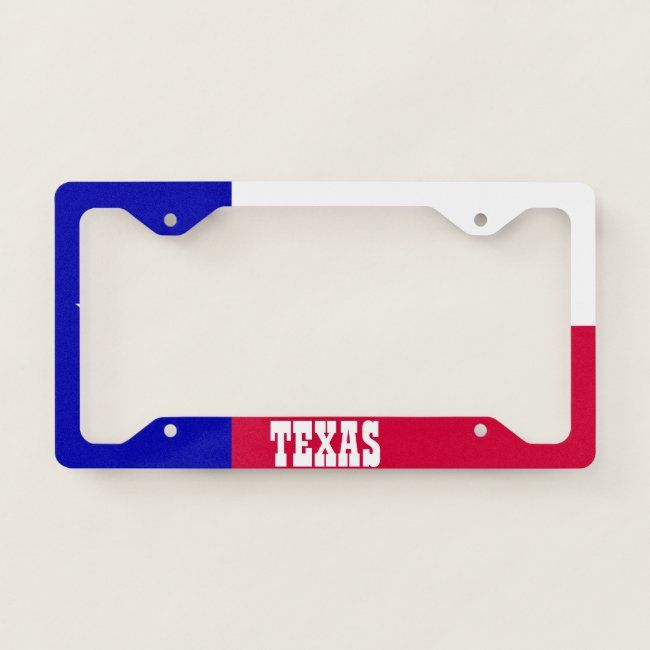 Texas Flag License Plate Frame Zazzle Com In 2020 Plate Frames License Plate Frames License Plate