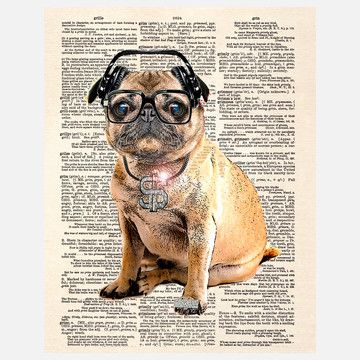 I Liked This Design On Fab Pug Dmc Canvas Pugs Stretched Canvas Prints Pugs Funny
