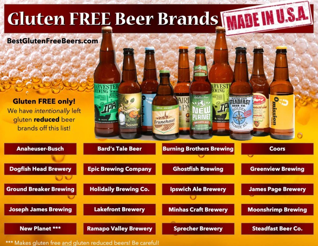 gluten free beer brands - usa beer list | gluten free beer in 2018