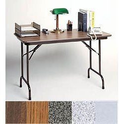 Folding Table 18x48 Folding Table Office Reception Furniture Grey Granite