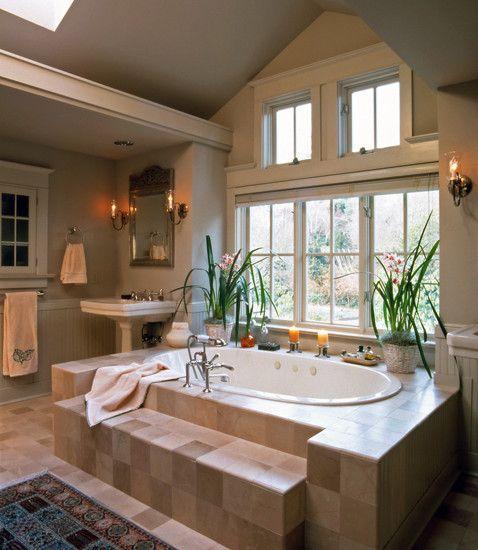 Nice Sconces Above Bathtub