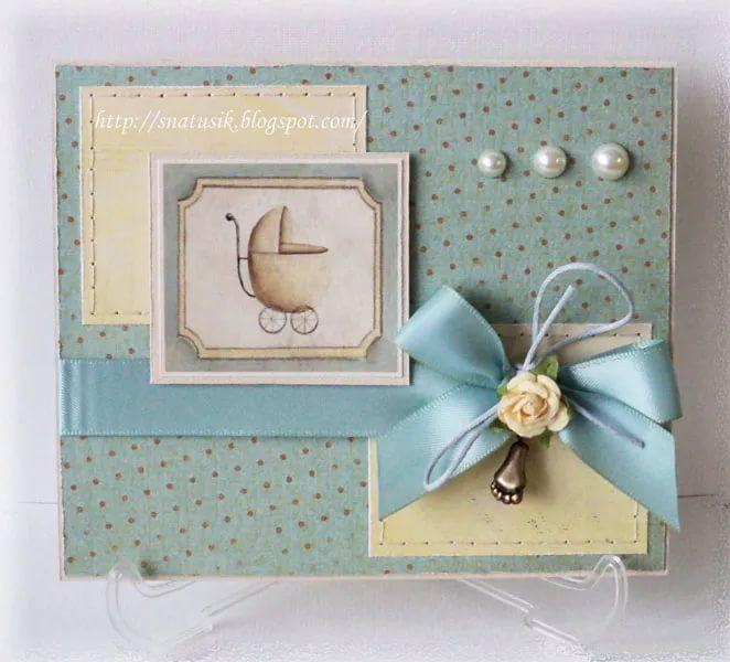 Открытка на рождение малыша скрапбукинг, для открыток днем