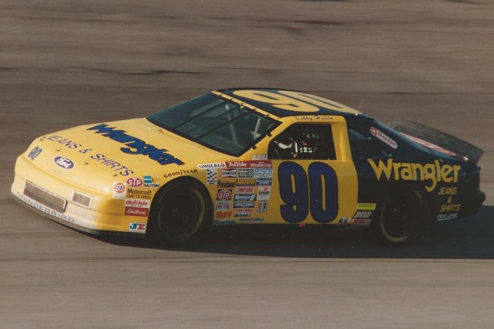 Bobby Hillen 90 Wrangler Ford Thunderbird Nascar Race Cars