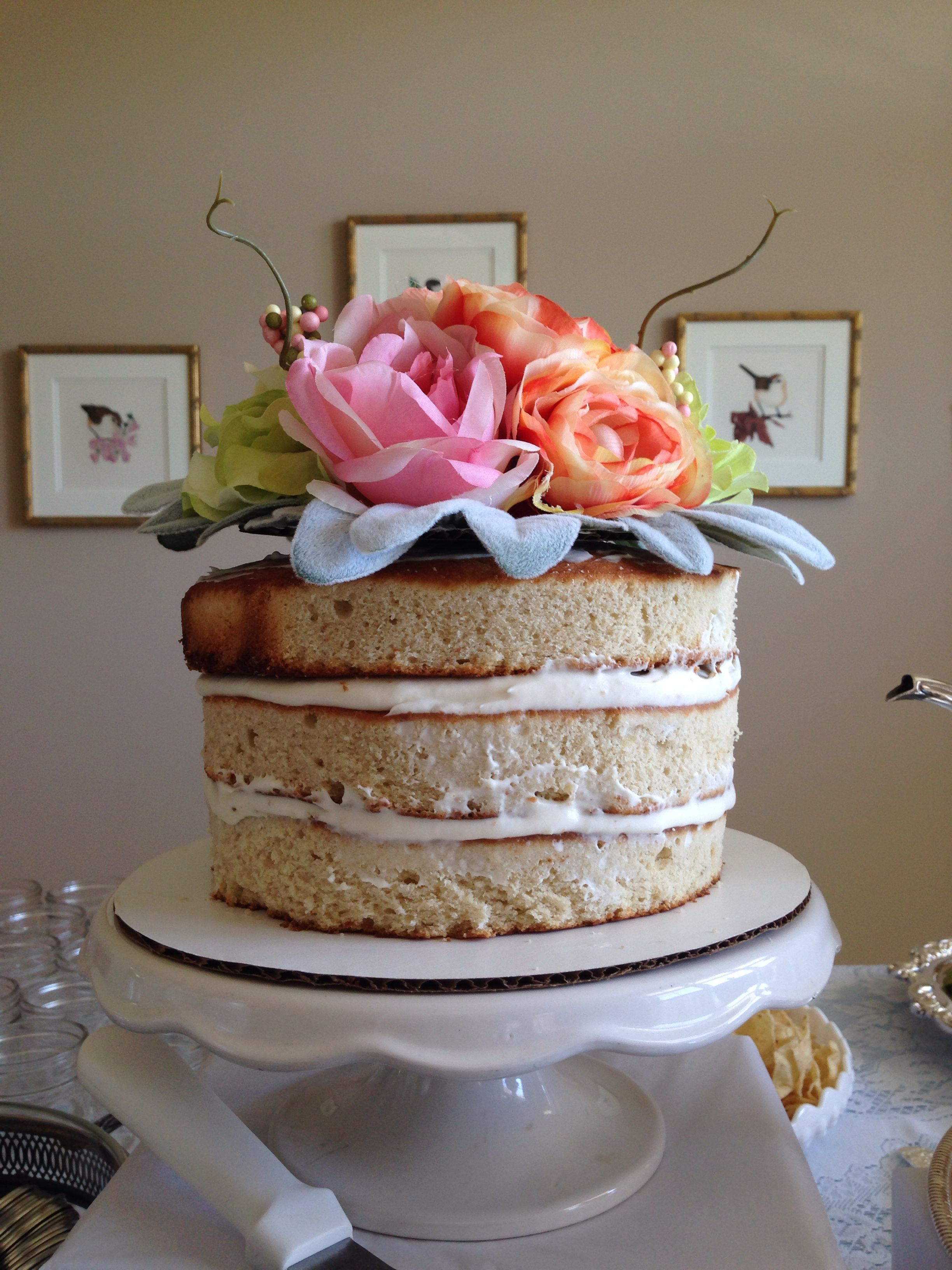 Layered cake and self made topper!