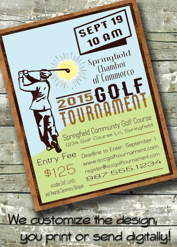 Golf tournament flyer event fundraiser poster or 5x7 invite golf tournament flyer event fundraiser poster or 5x7 invite customized digital invitation by ditditdigital stopboris Images