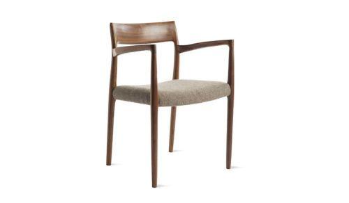 Groovy Moller Model 57 Armchair Walnut Grey Brown Hallingdal Seat Ibusinesslaw Wood Chair Design Ideas Ibusinesslaworg