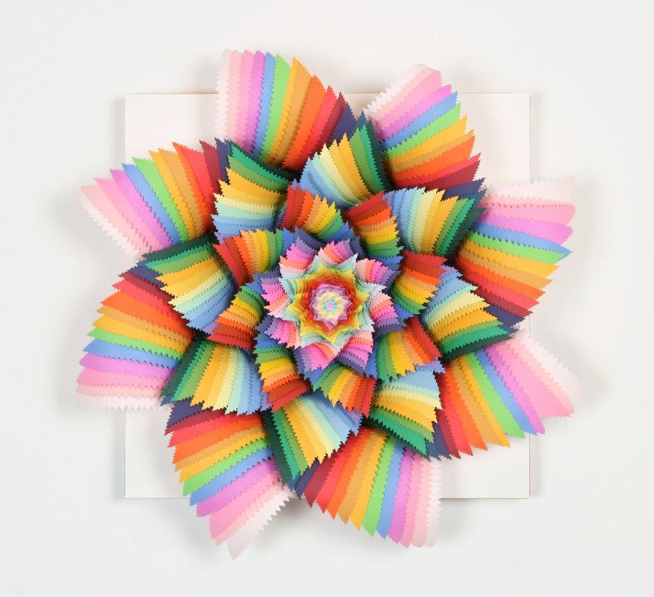 Zig Zag , paper art by Jen Stark Paper sculpture