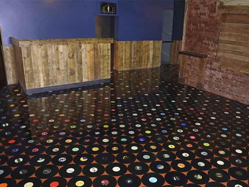 Bespoke Epoxy Floors Vinyl record floor Flooring