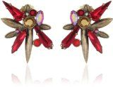 """#goldearrings - Sorrelli """"Ruby Cocktail"""" Large Celestial Red and Gold Crystal Cluster Clip-On Earrings - http://pinfollow.me/categories/jewelry/gold-earrings/sorrelli-ruby-cocktail-large-celestial-red-and-gold-crystal-cluster-clip-on-earrings/"""