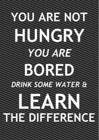 Difference between hungry and bored.