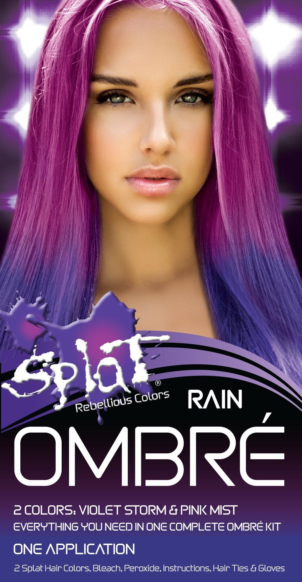 Splat Rebellious Colors Hair Coloring Complete Kit Rain Ombre Click On The Image For Additional Deta Pink Hair Dye Hair Color Diy Semi Permanent Hair Color
