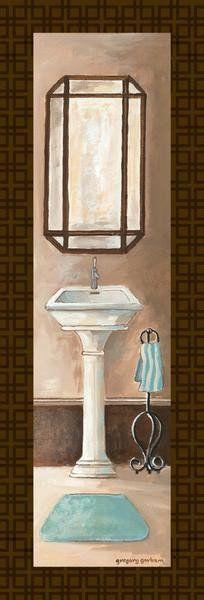 Bath Panel II - Mini Art Print Poster by Gregory Gorham Online On ...