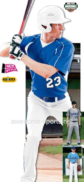 High Five Adult Youth Impact Two-Button Baseball Jersey Stock baseball  Jerseys available to ship same day. 34c4d26a6