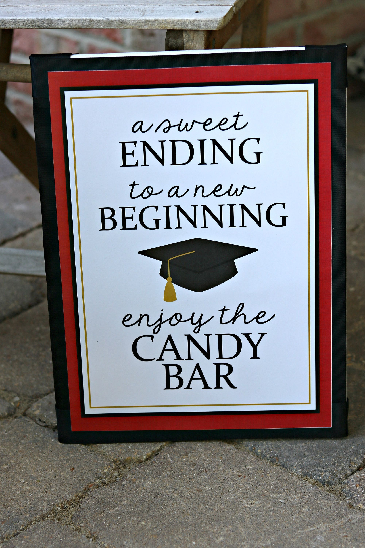 Graduation Candy Buffet Candy Bar Sign Grad Candy Bar