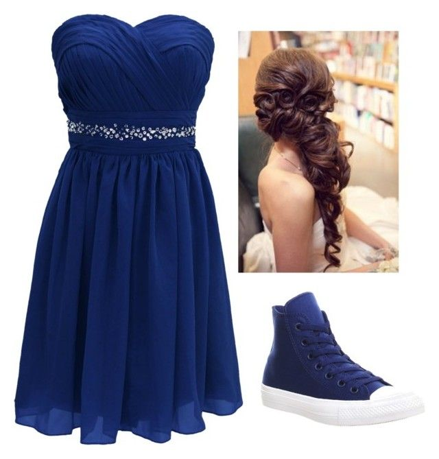 """The Dance"" by jaxen-atwell ❤ liked on Polyvore featuring Converse"
