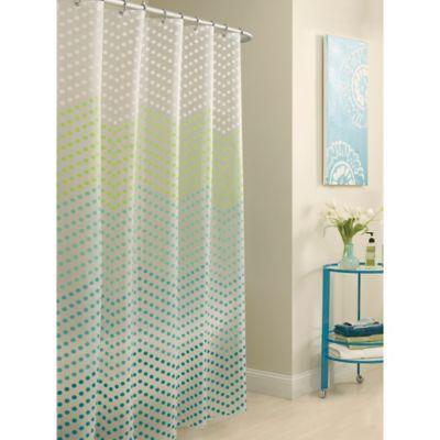 Bed Bath & Beyond PEVA Chevron Dots Shower Curtain | Bath ideas, Kid ...