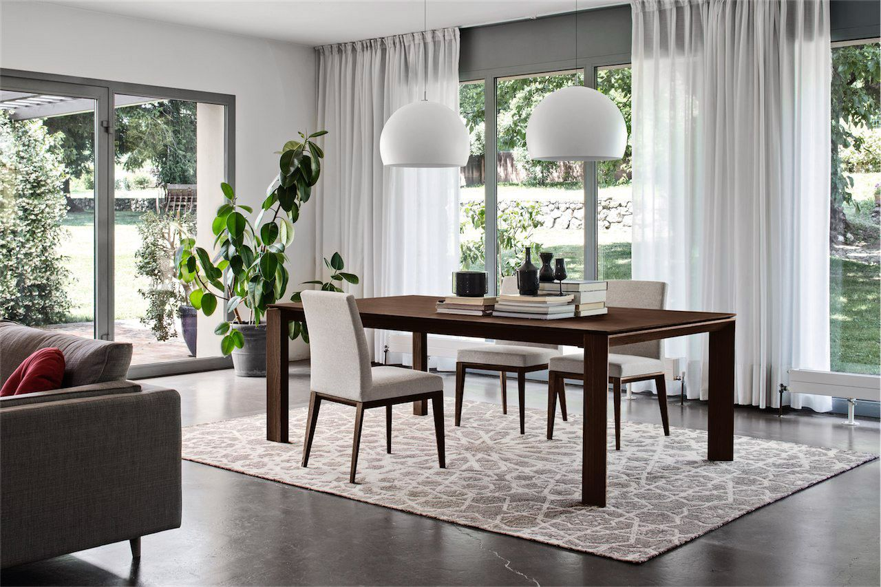 Space saving dining tables wenge minima simple aluminium dining table - Calligaris Omnia Extending Dining Table Comes In A Wide Range Of Colours And Finishes