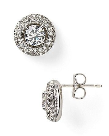 834c47202 $50 Nadri Rhodium Plated Pave Framed Cubic Zirconia Stud Earrings |  Bloomingdale's