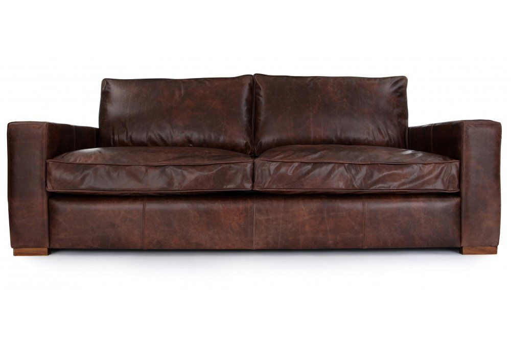 Battersea Vintage Leather Large 4 Seater From Old Boot Sofas Sofa