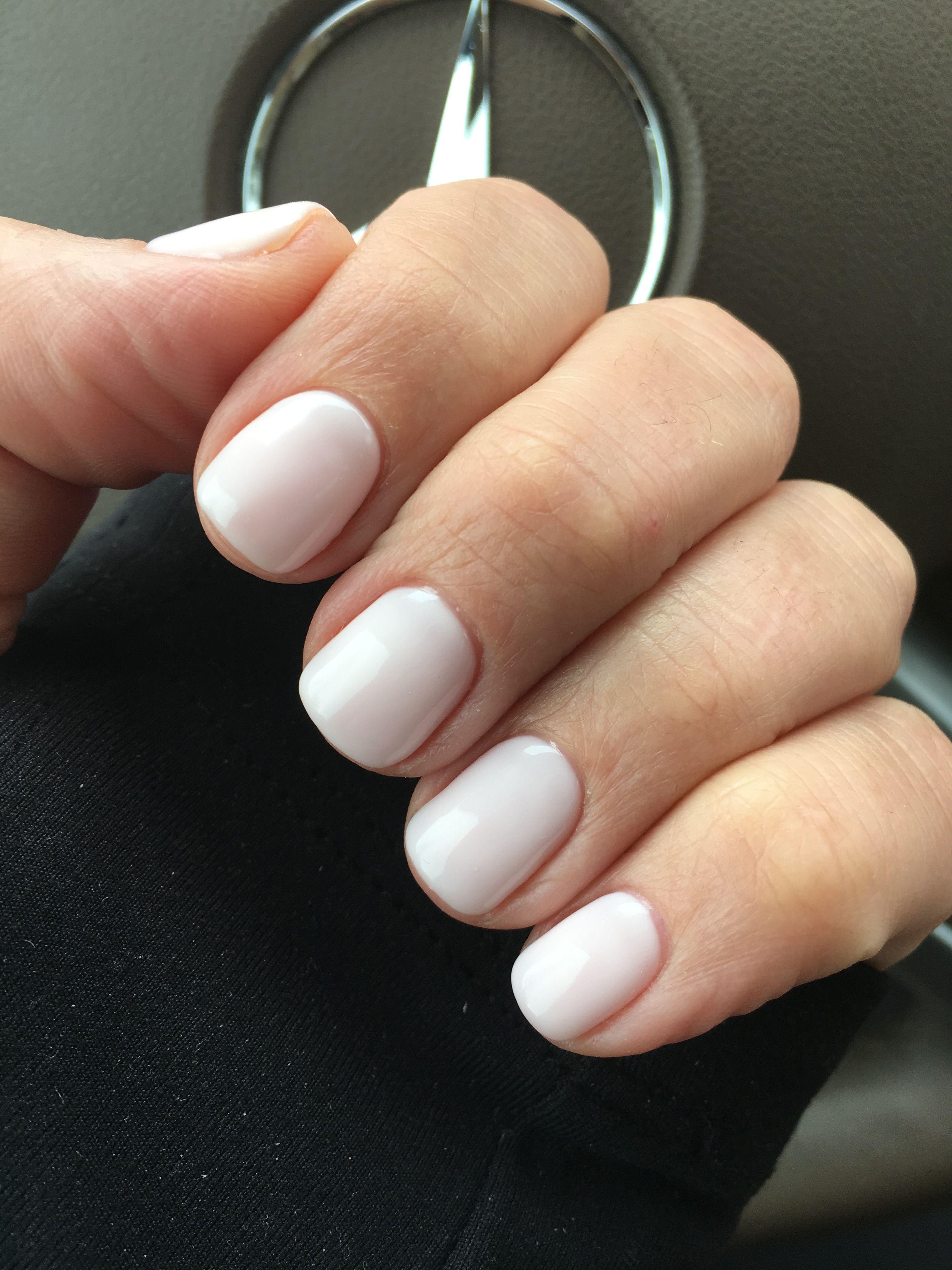 Cnd Romantique Hair And Nails White Shellac Nails Kathy Nails