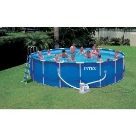 intex metal frame pool komplett set 549x122 cm 54952gs intex metal frame pool. Black Bedroom Furniture Sets. Home Design Ideas