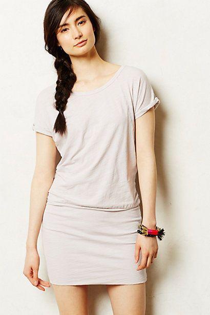 1e92a4102e698 Anthropologie Raglan T-Shirt Dress Sz L, Light Gray Stretch Cotton Shift,  Sundry #Sundry #TShirtDress #SummerBeach