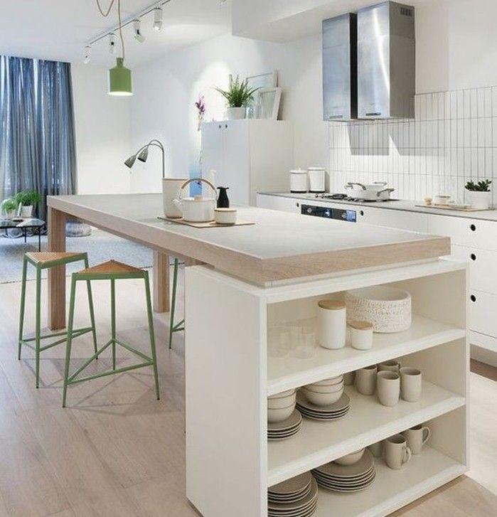 couleur mur cuisine blanche meubles blancs lot de cuisine avec plan de travail en