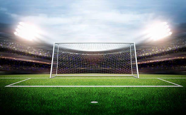 Goal Post Football Field Grass Backdrops Football Wallpaper