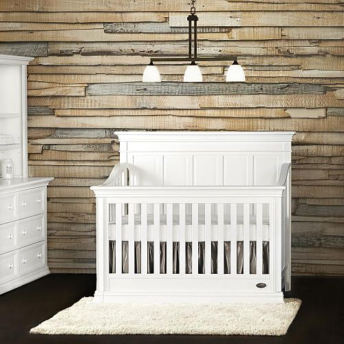 Evolur Napoli 5 In 1 Convertible Crib Distressed White