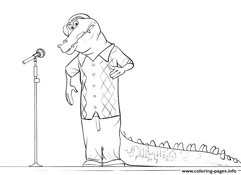 Sing Alligator Coloring Pages Printable And Book To Print For Free Find More Online Kids Adults Of