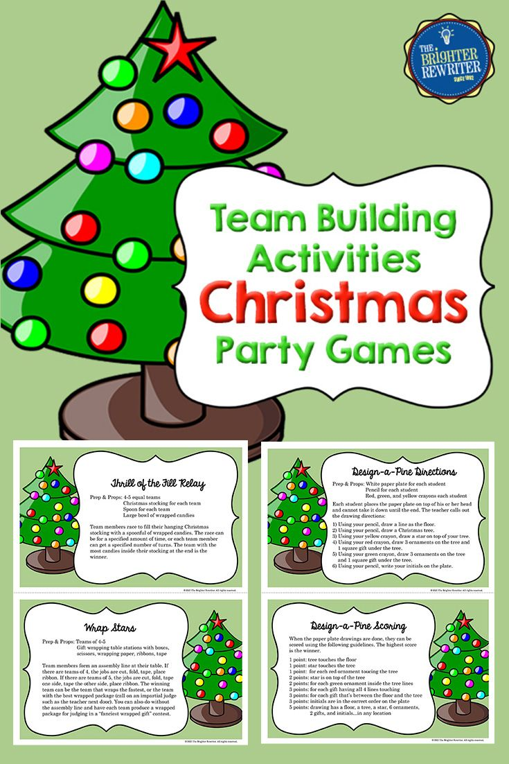 These Christmas Activities are great for team building and ...