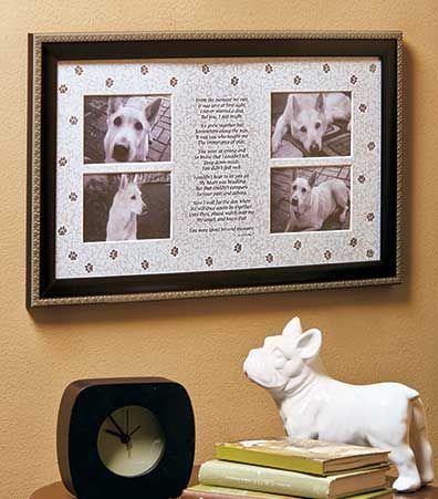 Dog Memorial Collage Frame is a beautiful keepsake that memorializes ...