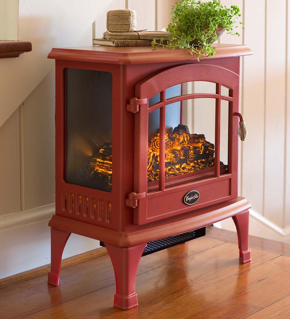 Love this heater looks like a stove but just plugs in no wood to