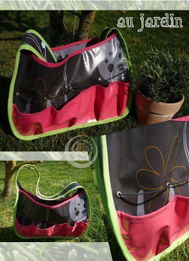 Un sac pour le jardin L'atelier de Mam Z'elle Rouge